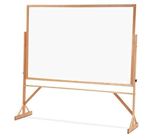 Quartet Standard Melamine Reversible Whiteboard, 4 X 6 Feet, Includes Accessory Rail, Oak Frame (Wmr406) front-259753