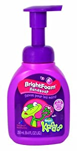 Pampers Kandoo BrightFoam Handsoap, Funny Berry Scent, 8.4 Fluid Ounce Pump (Pack of 4)