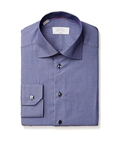Eton Men's Slim Fit Mini Stripe Spread Collar Dress Shirt