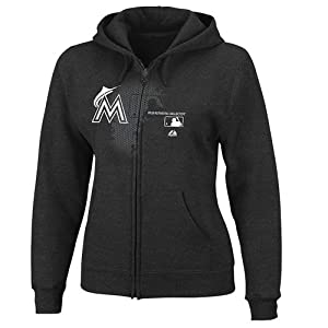 MLB Miami Marlins Ladies Change Up Fleece, Black by Majestic