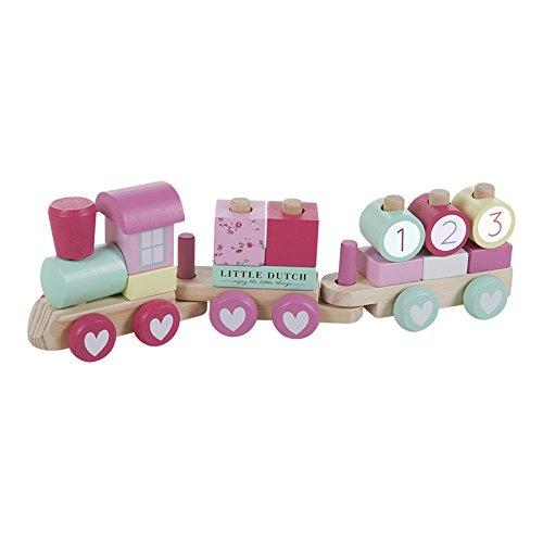 little-dutch-4354-holz-eisenbahn-mit-steck-formen-pink-blossom