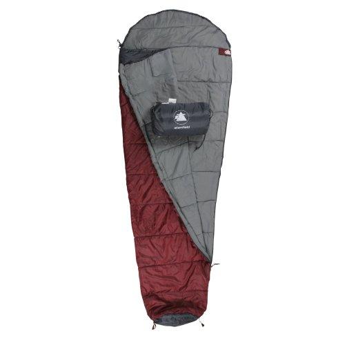 10T - Sacco a pelo Stanfield, 225x80/50 cm, colore: Rosso