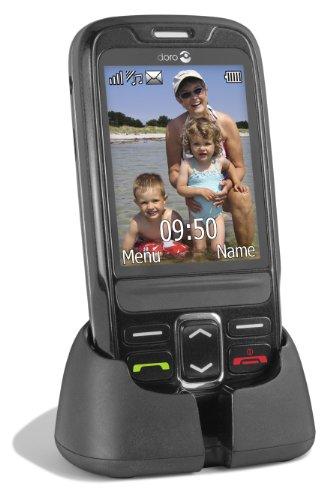 Doro PhoneEasy 715 GSM Slider-Mobiltelefon (2 Megapixel Kamera, Bluetooth, USB) schwarz