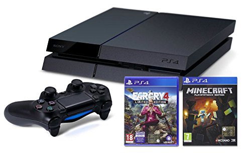 PlayStation 4: Console 500GB B Chassis + Far Cry 4 Limited Edition + Minecraft [Bundle]