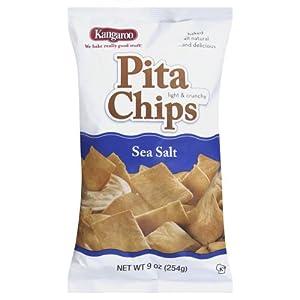 Kangaroo Chip Pita, Sea Salt, 6 Ounce
