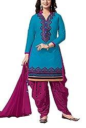 Meghali Women's Cotton Unstitched Salwar Suit (GS9_Multi-Coloured_Freesize)