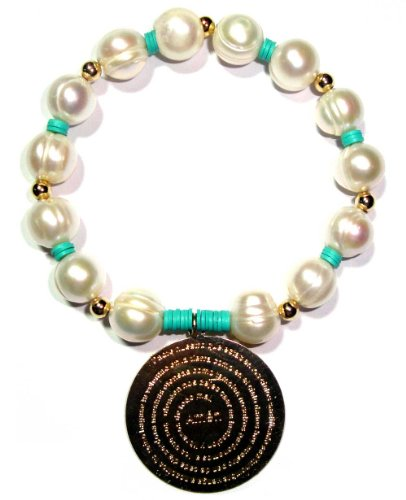 Fresh Water Pearls Bracelet Accentuated By a Gold Filled (Padre Nuestro)