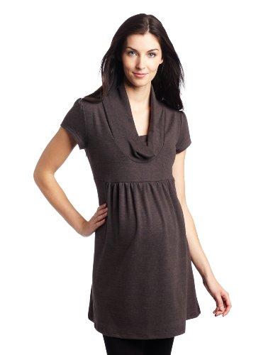 Three Seasons Maternity Women's Short Sleeve Cowl Neck Tunic