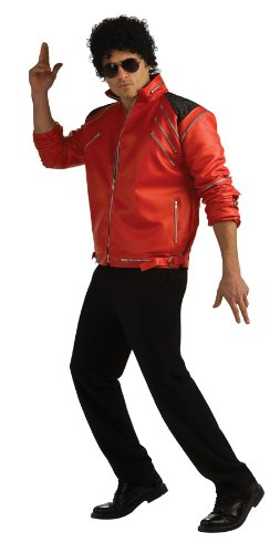 Michael Jackson Deluxe Zipper Jacket, Red,