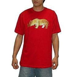 Mens Ecko Unltd Crew-Neck Short Sleeve T Shirt / Tee - Red (Size: XL)