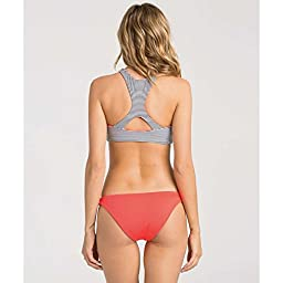 Billabong Women\'s Shell Stripe Tropic Reversible Bikini Bottom, Black Sands, Small