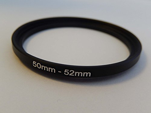 vhbw Step UP Filter-Adapter 50mm-52mm schwarz für Kamera Panasonic, Pentax, Ricoh, Samsung, Sigma, Sony, Tamron