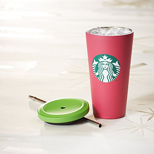 Starbucks Cold Cup Tumbler - Pink With Green Dot, 16 Fl Oz