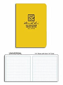 Pocket Field Book, Grid, 3-1/2 x 5In.