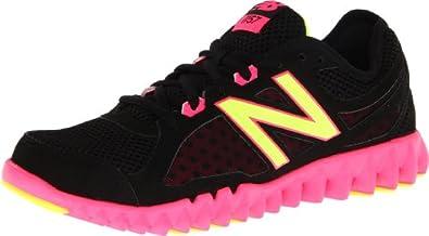 New Balance Women's WX1157 NB Groove Cross-Training Shoe,Black/Pink,7 B US