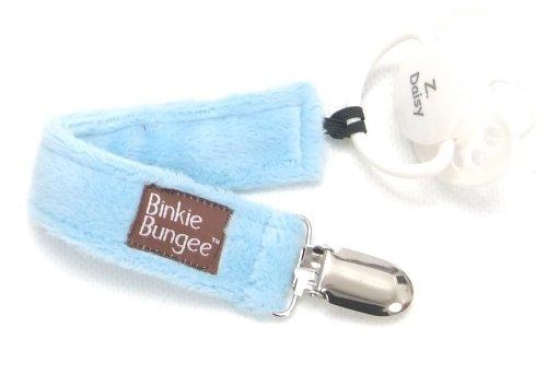Z. Daisy Blue Binkie Bungee Pacifier Clip - 1