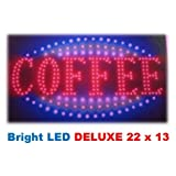 &amp;#34;Coffee&amp;#34; Bistro, Cafe, Restaurant Led Neon Business Motion Light Sign. On/off with Chain 22*13*1 Blt214