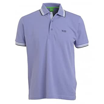 Hugo boss green polo shirt lilac tipped 39 paddy polo lilac for Hugo boss t shirts amazon