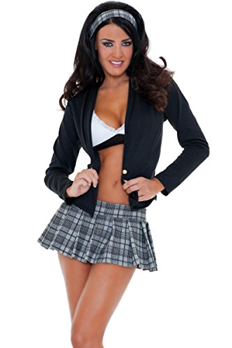3WISHES Women's Sexy Secret Studies Costume Hottest School Girl Halloween Outfit