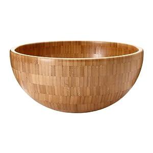 "Amazon.com   Blanda Matt ~ 11"" Salad Serving Bowl, Bamboo"