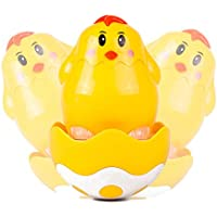 Vidatoy Wobble Chicken Amazing Plastic Roly Poly Toys For Kids Yellow