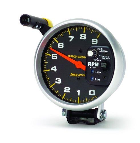 GAR231ZMAIABAH Competition Series Yellow Tachometer Gauge with Emblem Aurora Instruments
