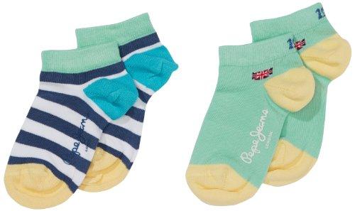 Pepe Jeans Jungen Socken BOYS SOCK PACK 6, 2er Pack, Gr. 176 (Herstellergröße: XL), Mehrfarbig (MULTI 0AA)