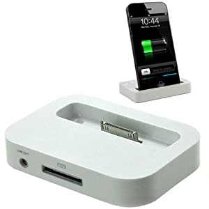 xtra funky range white usb charging sync desktop docking station for apple iphone 3g. Black Bedroom Furniture Sets. Home Design Ideas