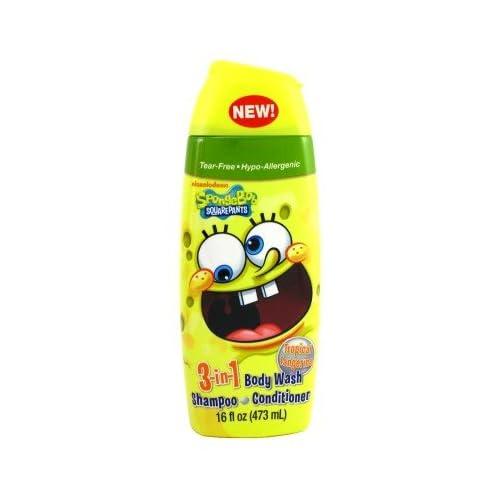 Amazon.com: Spongebob Squarepants 3-In-1 Body Wash-Shampoo-Conditioner