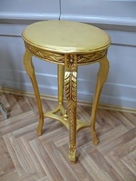 Mesa de centro oval estilo envejecido barroco AlTa0334GoOvS