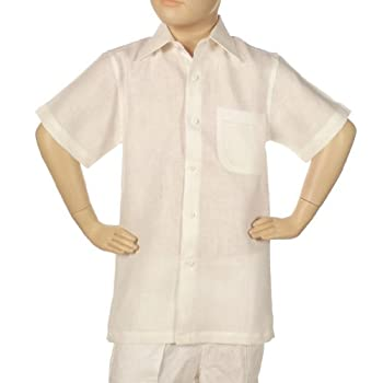 100% linen shirt for boys.