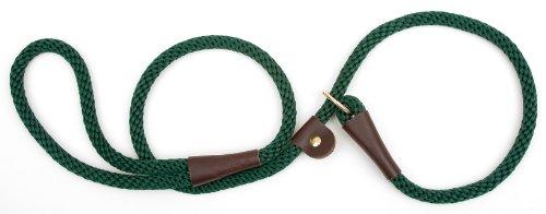 Mendota Products Dog Slip Lead, Hunter Green, 1/2-Inch x 6-Feet