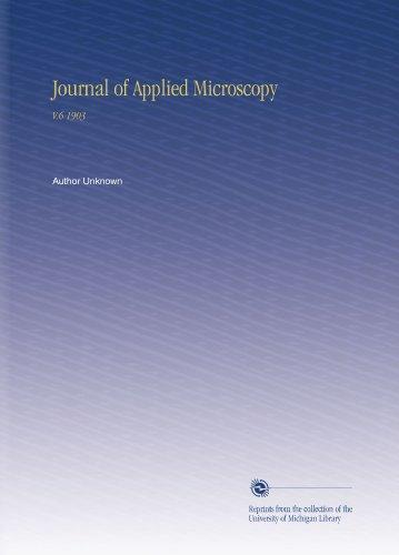Journal Of Applied Microscopy: V.6 1903