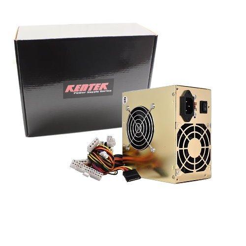 KENTEK 680 Watt 680W Dual Fan Gold Color ATX Power Supply 12V SATA 20/24 PIN PCI EXPRESS PCI-E Intel AMD by KENTEK