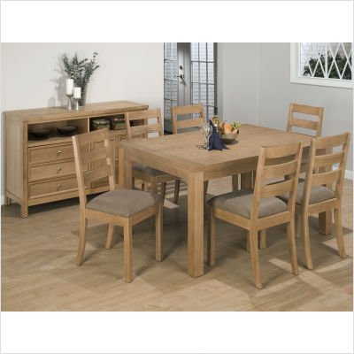 Buy low price jofran 7 piece square to rectangle dining - Square to rectangle dining table ...