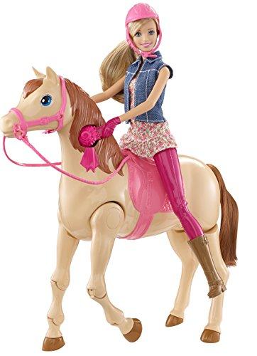Barbie - Saddle 'N Ride Horse Puppenset - Selbstlaufendes