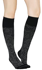 Paisley Compression Socks Womens & Mens - Pair of Medical Grade 20-30 mmHg Graduated Sock Support Stockings - Ideal for Running & Athletic Wear, Pregnancy/Maternity, Flight & Travel