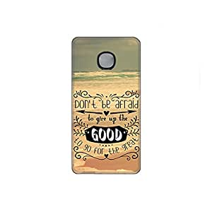 Vibhar printed case back cover for Microsoft Lumia 540 DontBAfraid