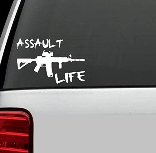 D1025 Assault Life Booter Ak47 M16 M4 Decal Sticker for Car Truck SUV Van Window Wall Laptop Salt Gun Rights Second Amendment (Gun Decals compare prices)