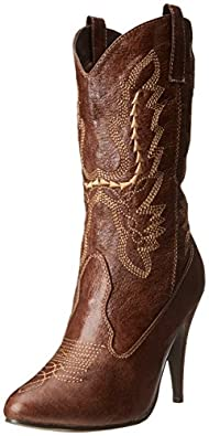 Ellie Shoes Women's 418 Cowgirl Western Boot, Brown, 6 M US