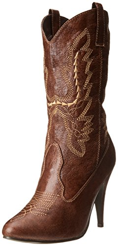 Ellie Shoes Women's 418 Cowgirl Western Boot, Brown, 9 M US