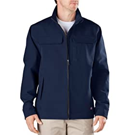 Buy Dickies Occupational Workwear LJ530NV Polyester  Spandex Softshell Jacket with Zipper Closure, Navy... by Dickies Occupational Workwear