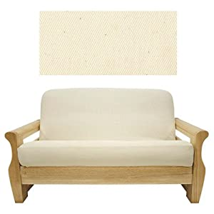 Solid Natural Futon Cover Size: Queen