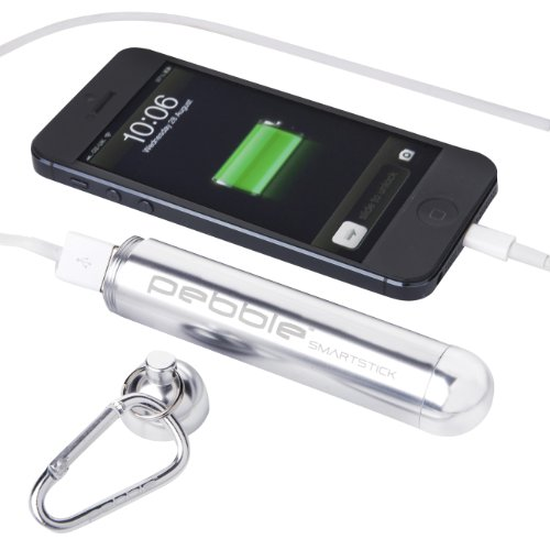 Veho VPP-004-PS 2800mAh Pebble Smartstick with Emergency Portable Battery for iPod/iPhone/Blackberry/Samsung/HTC/Nokia - Silver