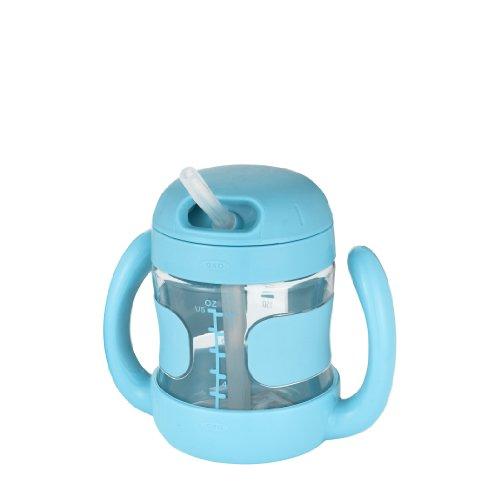 OXO Tot NEWハンドル付ストローカップ (アクア)  【ボトル】【ツインハンドル】【マグ】 FDOX6178202