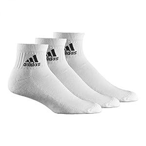 adidas Herren Bekleidung Knöchelsocken 3 Paar Adiankle HC, White/Black, 27-30, Z11432