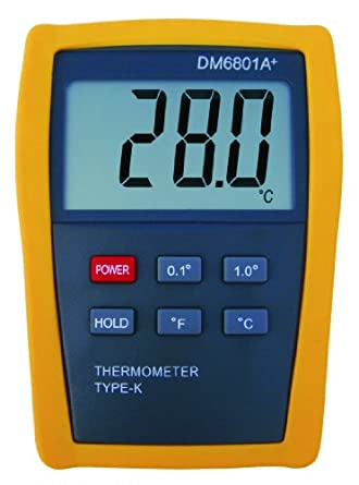 Digital K-type Thermocouple Thermometer DM6801A+