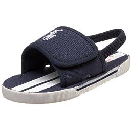 Ralph Lauren Coast Slide Style: 25719CB-NAVWHT Size: 0 C US