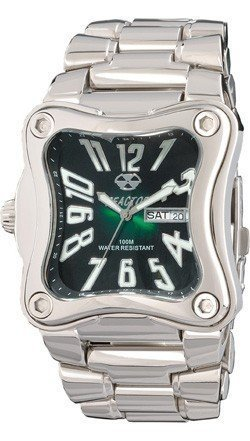 Reactor Flux Stainless Steel Bracelet with Dark Green Face Dive Watch