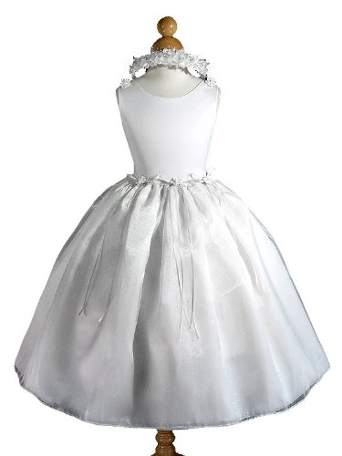 A8001a NEW White Flower Girl Communion Pageant Easter Wedding Dress Size 2 to 12 (2, White - Your order will be shipped out on the same or next business day. Orders arrive in 3 to 5 business days.)